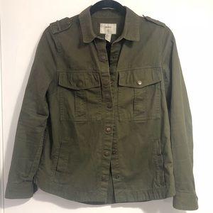 Olive Green Forever 21 Utility Jacket